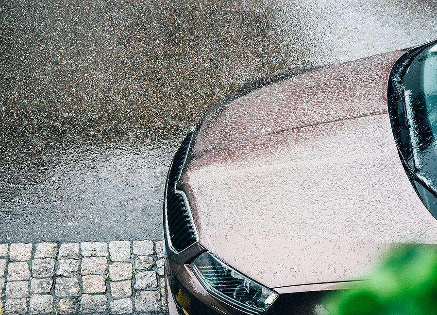 Golf Ball-Sized Hailstones Smash Driver's Windscreen